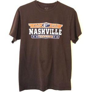 NASHVILLE Tee Shirt Tennessee Cotton Music City M